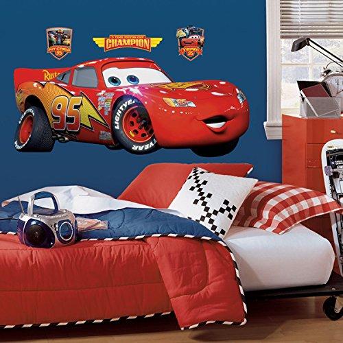 Disney Pixar Cars Lightning Mcqueen Peel & Stick Giant Decalcomanie della Parete