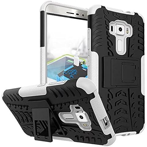 AIBULO® Asus ZenFone 3 ZE552KL (5.5 pollice) Custodia - iHarbort morbido protettiva TPU Case Cover Custodia in silicone per Asus ZenFone 3 ZE552KL (Bianco) - 5.5 Tablet