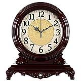 Jardín Reloj Soporte Reloj Madera Maciza Reloj Silencio Mesa Reloj decoración Retro Reloj Movimiento Reloj de Cuarzo-JBP4