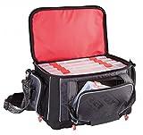 Fox Rage Voyager Large Carrybag, Angeltasche inkl. 5 Angelboxen / Tackleboxen, Anglertasche zum Spinnfischen, 47x33x30cm, Fox Tasche