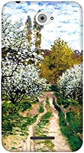 The Racoon Lean Trees in Bloom hard plastic printed back case / cover for Sony Xperia E4