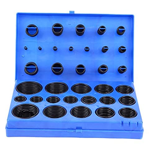 Ridgeyard 419pcs Stück mechanisch Schwarz Gummidichtring O Ring Sortiment trinkwasser geeignet Ringe Dichtungen Reiniger Rubber Seal Sortiment Set Kit