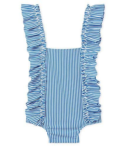 Petit Bateau Baby-Mädchen Maillot de bain 1p_4764701 Badeanzug, Mehrfarbig (Riyadh/Marshmallow 01), 68 (Herstellergröße: 6M/67cm) -