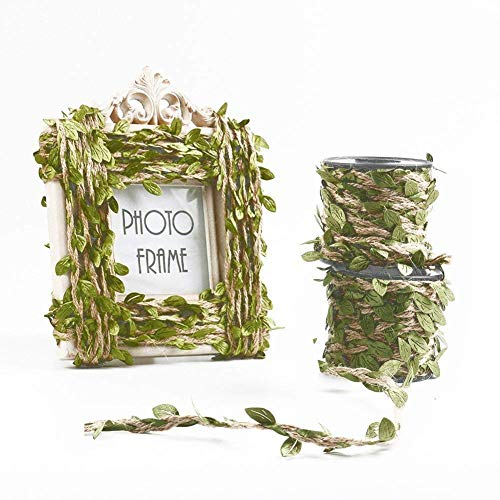 MARGUERAS 10 m Künstliche Blättergirlande für Hochzeiten, Dekoration DIY Handwerk, Geschenk