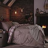 Catherine Lansfield Stags - Juego de funda nórdica para cama, tamano 260X240 cm + 50X110 cm