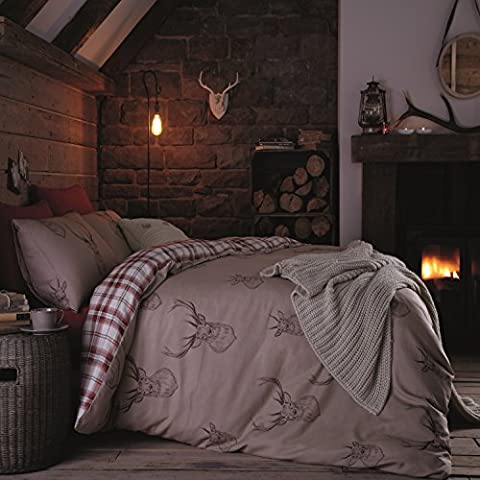 Catherine Lansfield Stags - Juego de funda nórdica para cama de 150 cm