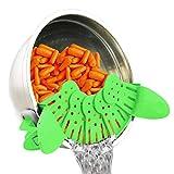 Égouttoir pliable de pot de videur de pot d'égouttement pour la vidange de graisse de légume de fruit de pâtes (vert)