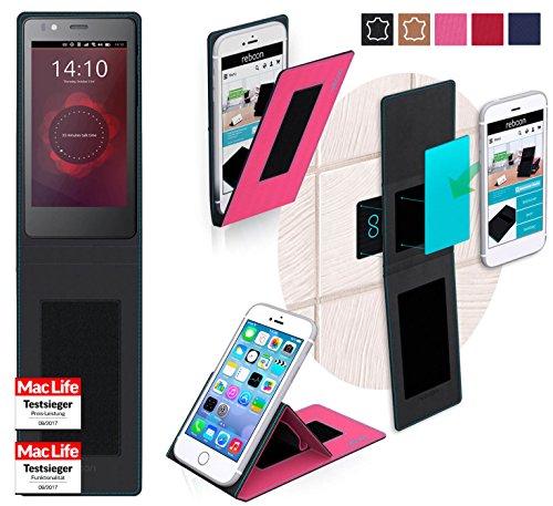 reboon Hülle für BQ Aquaris E4 Tasche Cover Case Bumper | Pink | Testsieger