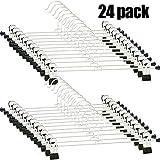 Hosenbügel Klammer - 24 Stück Hosenbügel Kleiderbügel Rockbügel Metall Klammer