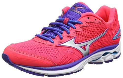 Mizuno Wave Rider 20 (w), Chaussures de Running Entrainement Femme, Rose (Diva Pink/Silver/Liberty), 40 EU