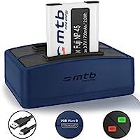 Batterie + Double Chargeur (USB) pour Fujifilm NP-45 / Finepix J.. / JV.. / JX600 ../ JZ500.. / XP80 XP90.. - .v. liste