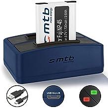 Batería + Cargador doble (USB) para Fujifilm NP-45 / Finepix J.. / JV.. /JX600 ../JZ500.. / XP80 XP90... - ver lista de compatibilidad