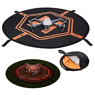 UKON Landing Pad Drone DJI Helipad Reflective Foldable 75CM for RC Quadcopter Drone DJI Spark Mavic Pro Air Phantom