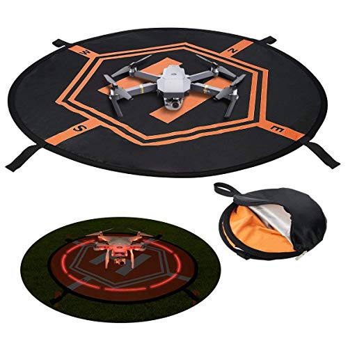 UKON Piattaforma di Atterraggio Drone, Universale Impermeabile Portatile Pieghevole Pad UAV Fast-Fold per Parrot Disco AR Drone, 3D Robotics Solo,Droni PVB, DJI Mavic PRO Phantom 2/3/4 / PRO