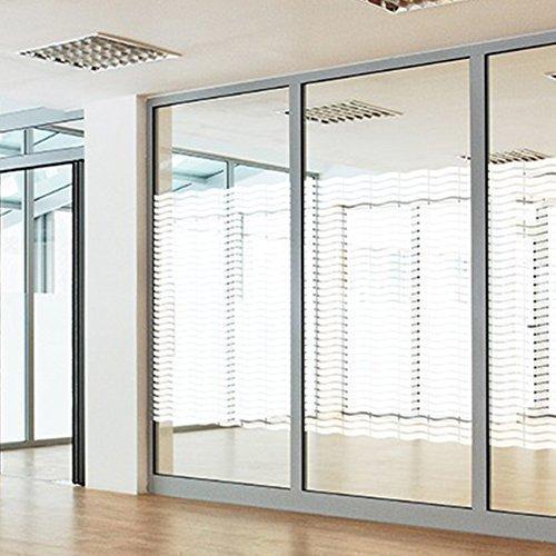 Solar Screen Milchglasfolie Designfolie Sichtschutzfolie CORTINA 152cm Breite Laufmeterware Fensterfolie Selbstklebend Folie Dekofolie geschwungende Wellen Muster Milchglas