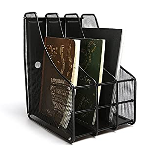 ABO Stehsammler Office A4 Zeitschriftenboxen office, 3 Fächern, Drahtmetall, schwarz, Ly-9303C