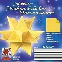 Faltblätter Weihnachtlicher Sternenzauber - Motiv Sternenstaub, 15 x 15 cm á 33 Blatt