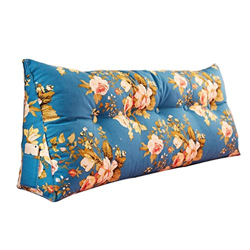 Coussins Coussin coussin de sac souple triangle coussin dorsal Protecteur de taille coussin d 'oreiller long Beau canapé bleu fleur de Qiangjiao chambre canapé coussin d ' oreiller long