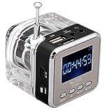 HCFKJ Mini USB MicroSD Karte FM Radio LCD Display Lautsprecher Musik MP3 Player (BK)