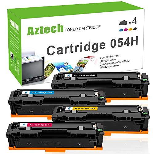 Aztech Compatible pour Canon 054 054h Noir Cyan Magenta Jaune Toner pour Canon i-SENSYS LBP621cw...