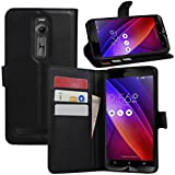 Zenfone 2 Hülle, HualuBro [All Around Schutz] Premium PU