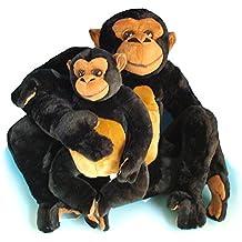 Mamá y bebé chimpancé ...