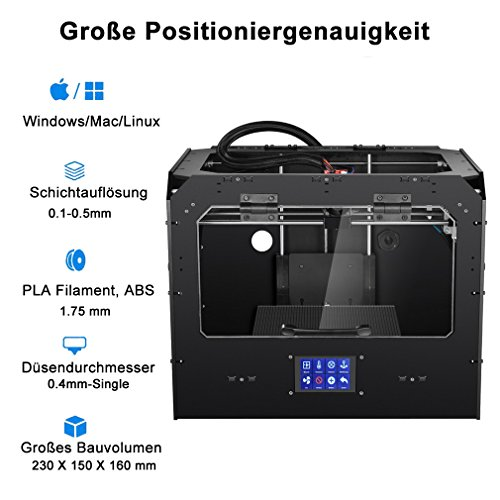 DEMU 3D Drucker Pro einzigen Extruder Kit Touchscreen 3D Printing DIY PLA ABS - 3