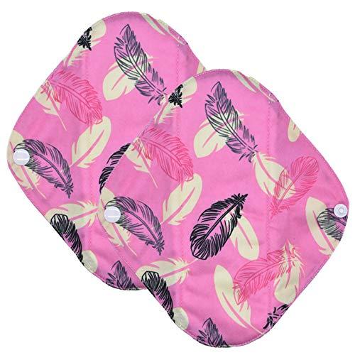 YAMEIJIA Slipeinlage Cloth Menstrual Pad für Frauen Bambuskohle Mama Cloth Menstrual Sanitary Wiederverwendbare Waschbar -