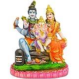 [Sponsored]Hand Made Gold Plated Lord Shiva Ji Statue Spiritual Idols Decorative Shankar Ji / Bhole Baba / Mahadev Parvati Ganesha Puja Vastu Showpiece Lord Shiva Family Figurine Religious Pooja Gift Item & Murti For Mandir / Temple / Home Decor / Off