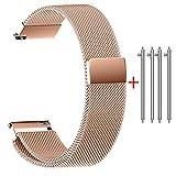 Rameng 22mm 20mm 18mm 16mm 14mm Bracelet de Montre, Fermeture magnétique Fermoir...