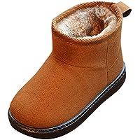 ZODOF Lindos Zapatos para niños Botas de Nieve para niños pequeños Botas de Nieve para niñas pequeñas Calientes Zapatos Antideslizantes de bandada sólida