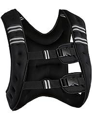 TecTake Gilet lesté Gilet de course | Taille unique | Liberté de mouvement optimale | diverses modèles et poids (10kg Bande réflectrice | no. 402636)