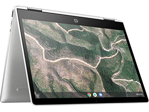 HP Chromebook 12b-ca006TU x360 Thin and Light Touchscreen 12-inch Laptop (4GB/64GB eMMC SSD + 100GB Cloud Storage/Chrome OS/Intel UHD Graphics), Natural Silver Image 3