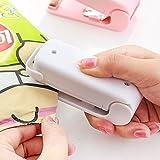 Luniquz Mini Sealer Hand Folienschweißgerät Haushalt portabel tragbar Tüten Verschweißer für Plastik Verpackung von Snack, Süßigkeiten, Lebensmittel - weiß