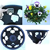 """4 x Easy fill hanging baskets 14"""" Black"""