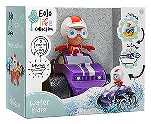 EUREKAKIDS Eolo Water Rider Pepe Juguete de baño Púrpura - Juegos, Juguetes y Pegatinas de baño (Juguete de baño, Niños, Púrpura)