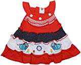 Amy Baby Girls Straight Frock (777, RED,...