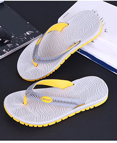 Scothen Sommer Sandale,Unisex Herren Jungen Garden Clogs Shoes Mens Garden Shoes Unisex Adult Sandals Slippers Slip strand Garten Pool Maultier EVA Holzschuhe Schuhe Summer Mountain Shoes Grau-Gelb