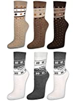 6 oder 12 Paar Damen THERMO Socken mit Innenfrottee Winter Damensocken - 38759/38765 - sockenkauf24