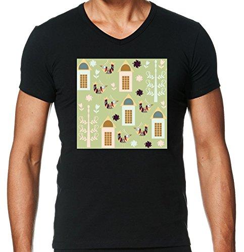 t-shirt-pour-homme-noir-col-v-taille-l-motif-oiseaux-by-luizavictorya72