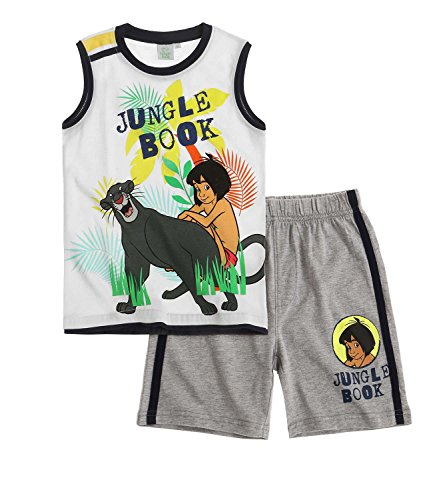 Disney The Jungle Book Chicos Camiseta y Pantalón Corto 2016 Collection - Blanco