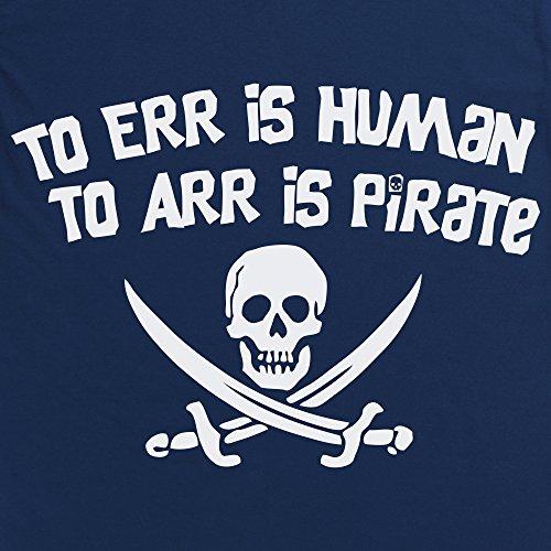 Pirate Err T-Shirt, Damen Marineblau