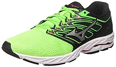 Mizuno Wave Shadow, Chaussures de Running Homme, Multicolore (Greenslime/White/Formulaone 01), 45 EU