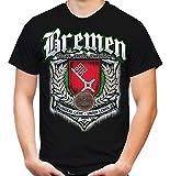 Für Immer Bremen Männer und Herren T-Shirt | Sport Fussball Stadt Fan (XL, Schwarz Druck: Bunt)