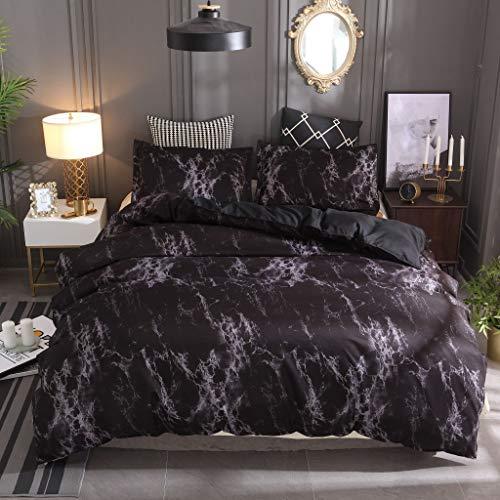 Cenday Steinmuster Marmor Schwarz Einfache Decke Double Tröster Big Big Mit Kissenbezug Super Soft Modern Style Home Decoration DREI Stücke -