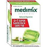 Medimix Ayurvedic Glycerine Soap, 125g (4+1 Super Saver Pack)