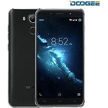 Smartphone Libre, DOOGEE F7 Teléfonos Móviles Libres Baratos - 5.5 IPS Pantalla - MT6797Helio X20Deca Core - Dual SIM - 3GB RAM+32GB ROM - 5MP + 13MP PDAF Cámara - Android 6.0 4G Teléfono Móvil con Huella Dactilar, HIFI 4K video, 3400mAh (Negro)