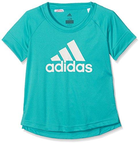 adidas Mädchen Training Logo T-Shirt, Energy Blue/White, 140