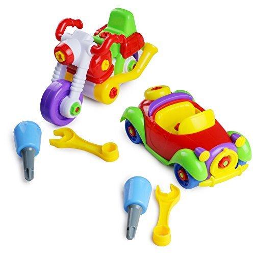 Preisvergleich Produktbild Set von 2Montage Demontage Motorrad und Auto take-apart Toys Tolles Geschenk geeignet für Kinder über 3Jahren