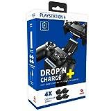CAPCY PlayStation 4 Docking Ladestation mit Netzteil zum schnellen Laden für zwei PS4 DualShock 4 Controller (Drop'n Charge+)